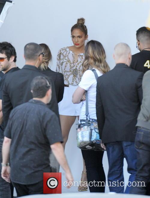 Jennifer Lopez arrives at the American Idol