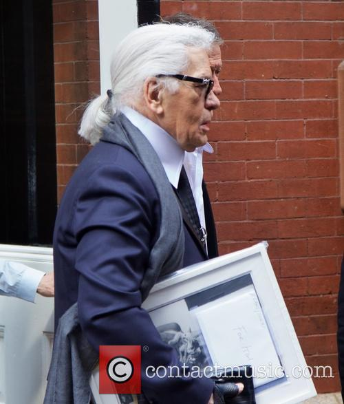 Karl Lagerfeld in NYC