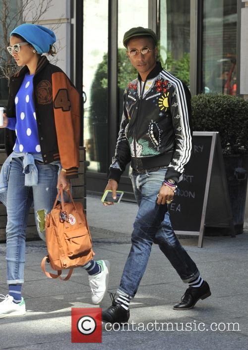 Pharell and Helen Lasichanh out and about in...