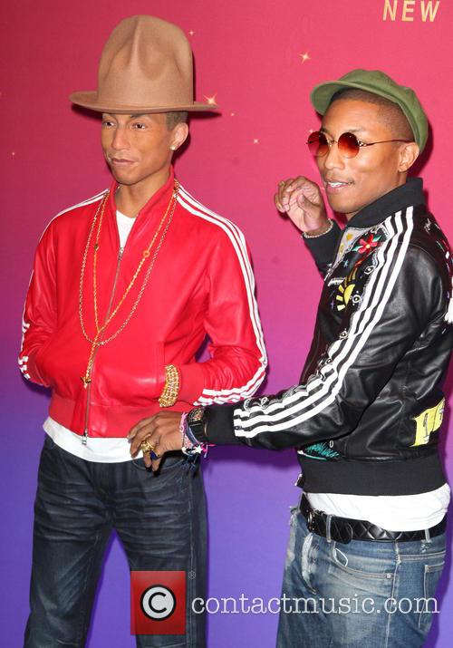 Pharrell Williams unveil his wax figure