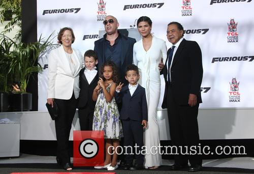 Delora Vincent, Vin Diesel, Vincent Sinclair, Hania Riley Sinclair, Pauline Sinclair and Irving Vincent 2