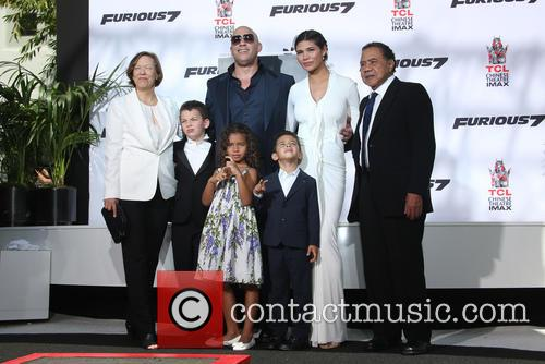 Delora Vincent, Vin Diesel, Vincent Sinclair, Hania Riley Sinclair, Pauline Sinclair and Irving Vincent 3