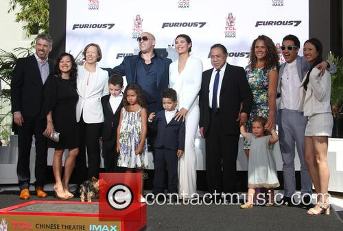 Delora Vincent, Vin Diesel, Vincent Sinclair, Hania Riley Sinclair, Pauline Sinclair, Irving Vincent and Samantha Vincent 11