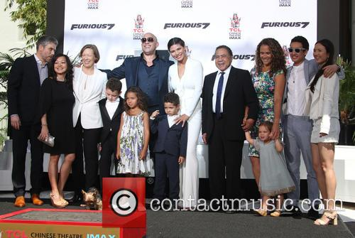Delora Vincent, Vin Diesel, Vincent Sinclair, Hania Riley Sinclair, Pauline Sinclair, Irving Vincent and Samantha Vincent 1