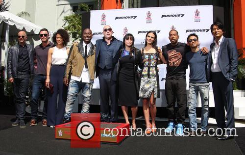 Luke Evans, Nathalie Emmanuel, Tyrese Gibson, Vin Diesel, Michelle Rodriguez, Jordana Brewster, Ludacris and Sung Kang 2