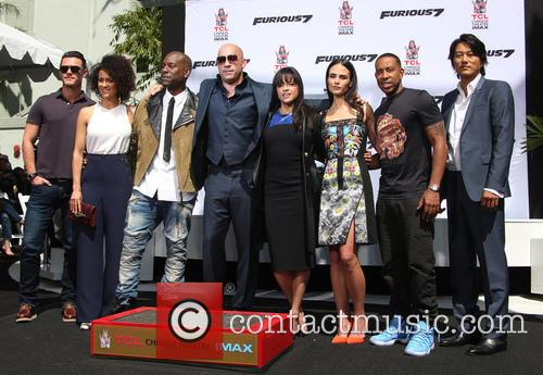 Luke Evans, Nathalie Emmanuel, Tyrese Gibson, Vin Diesel, Michelle Rodriguez, Jordana Brewster, Ludacris and Sung Kang 1