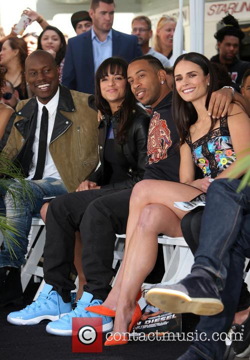 Tyrese Gibson, Michelle Rodriguez, Ludacris and Jordana Brewster 3
