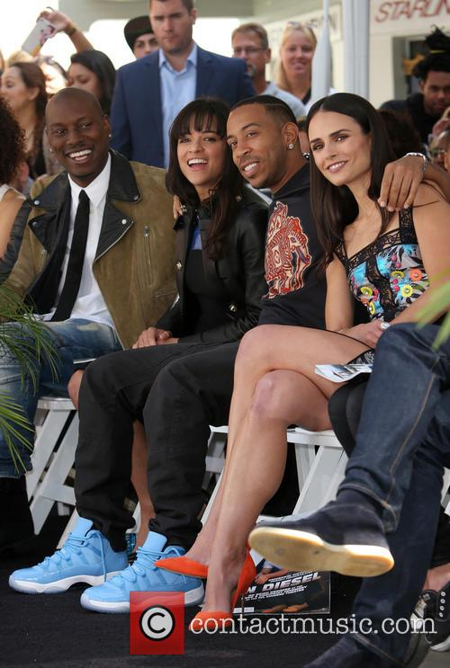 Tyrese Gibson, Michelle Rodriguez, Ludacris and Jordana Brewster 5