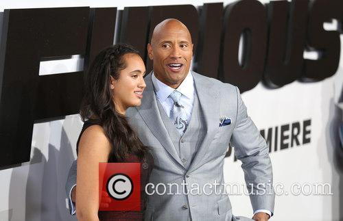 Simone Alexandra Johnson and Dwayne Johnson 3