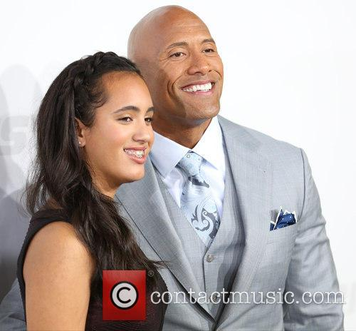 Simone Alexandra Johnson and Dwayne Johnson 1