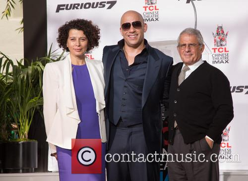 Donna Langley, Vin Diesel and Ron Meyer 2