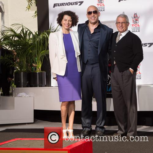 Donna Langley, Vin Diesel and Ron Meyer 1