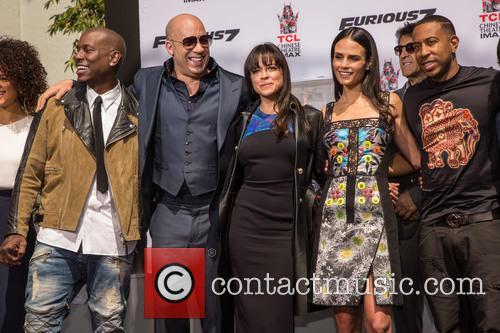 Guest, Tyrese Gibson, Vin Diesel, Michelle Rodriguez, Jordana Brewster and Ludacris 2