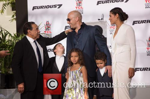 Irving Vincent, Vin Diesel, Guest, Hania Riley Sinclair, Vincent Sinclair and Paloma Jiménez 1