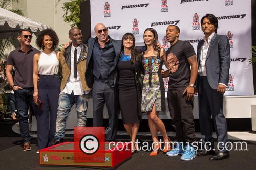 Luke Evans, Guest, Tyrese Gibson, Vin Diesel, Michelle Rodriguez, Jordana Brewster, Ludacris and Sung Kang 10