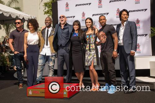 Luke Evans, Guest, Tyrese Gibson, Vin Diesel, Michelle Rodriguez, Jordana Brewster, Ludacris and Sung Kang 11