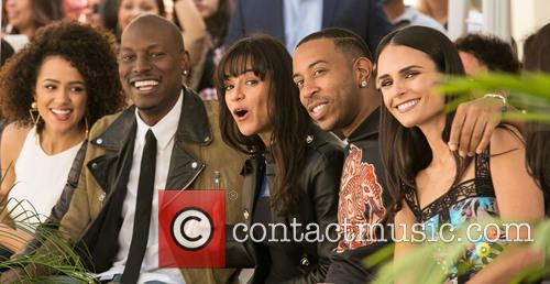 Nathalie Emmanuel, Tyrese Gibson, Michelle Rodriguez, Ludacris and Jordana Brewster 2