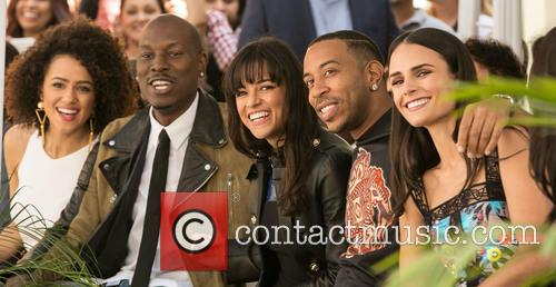 Nathalie Emmanuel, Tyrese Gibson, Michelle Rodriguez, Ludacris and Jordana Brewster 3