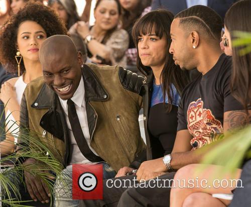 Nathalie Emmanuel, Tyrese Gibson, Michelle Rodriguez, Ludacris and Jordana Brewster 4