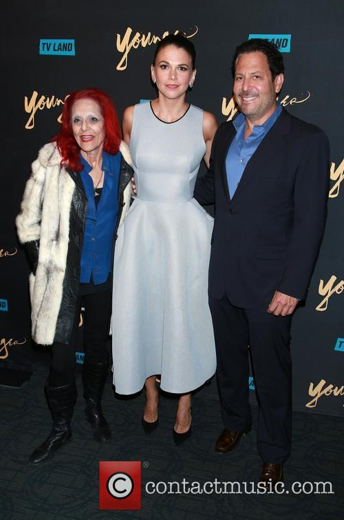 Patricia Field, Sutton Foster and Darren Starr 4