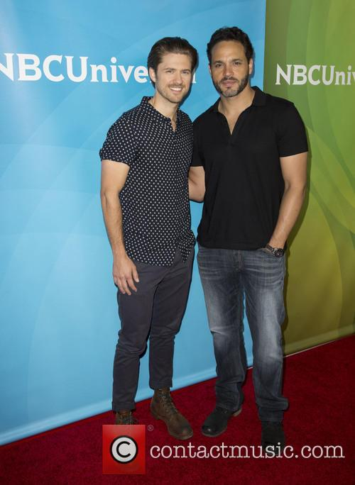 Aaron Tveit and Daniel Sunjata