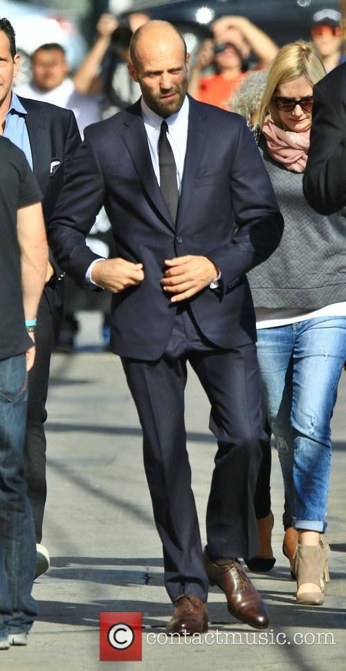 Jason Statham arrives for Jimmy Kimmel Live!