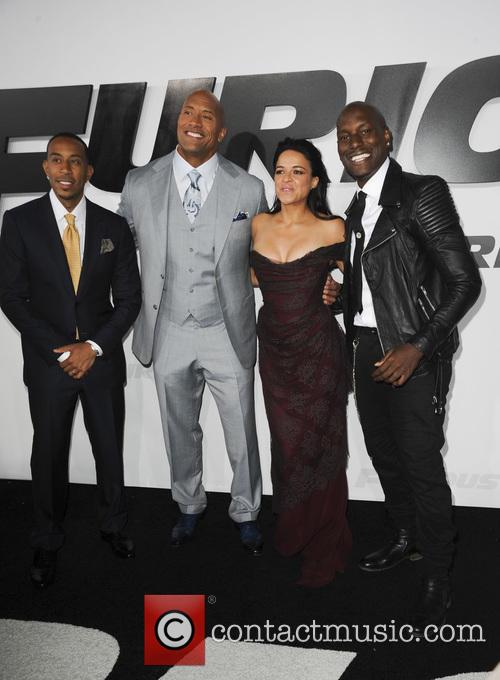 Ludacris, Dwayne Johnson, Michelle Rodriguez and Tyrese Gibson 6