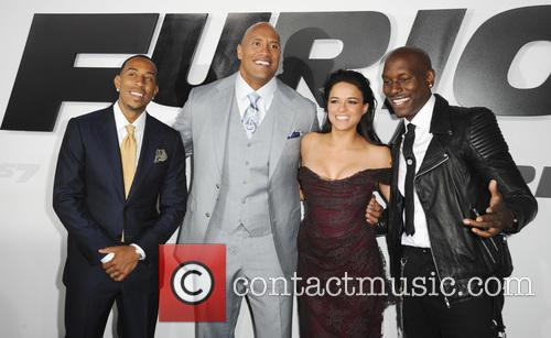 Ludacris, Dwayne Johnson, Michelle Rodriguez and Tyrese Gibson 7