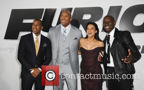 Ludacris, Dwayne Johnson, Michelle Rodriguez and Tyrese Gibson 8