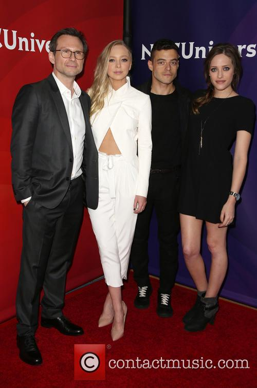 Christian Slater, Portia Doubleday, Rami Malek and Carly Chaikin 6
