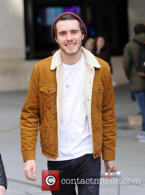Alfie Deyes at the BBC studios