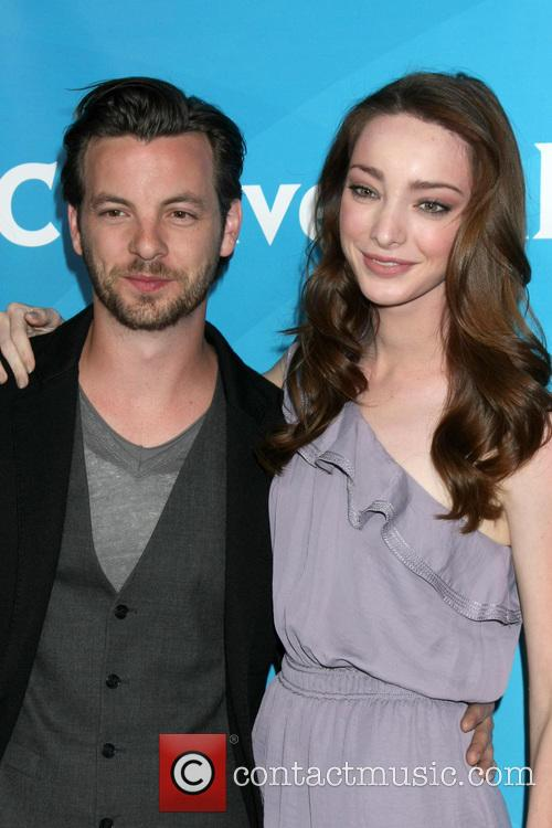 Gethin Anthony and Emma Dumont