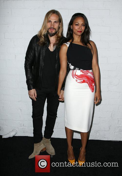Marco Perego and Zoe Saldana 4