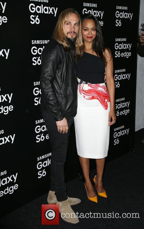 Marco Perego and Zoe Saldana 1