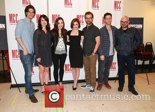 Alex Timbers, Elizabeth Reaser, Talene Monahon, Nicole Lowrance, Lucas Near-verbrugghe, Justin Bartha and Robert Askins 3