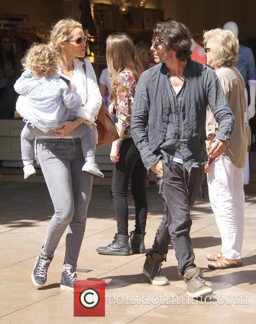 Elizabeth Berkley, Sky Lauren and Greg Lauren 2