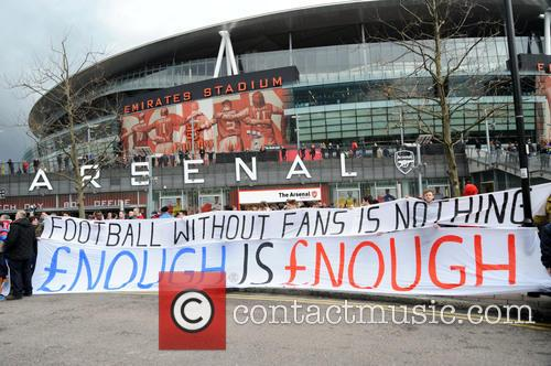 Arsenal Fans Protest 2