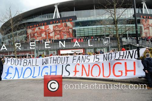 Arsenal Fans Protest 3