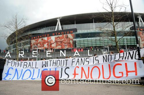Arsenal Fans Protest 5