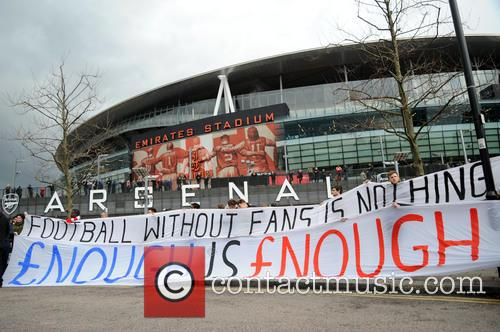 Arsenal Fans Protest 6
