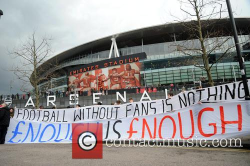 Arsenal Fans Protest 7