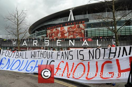 Arsenal Fans Protest 9