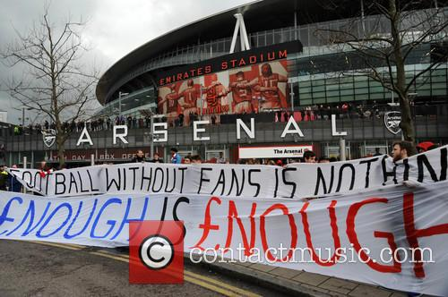 Arsenal Fans Protest 10