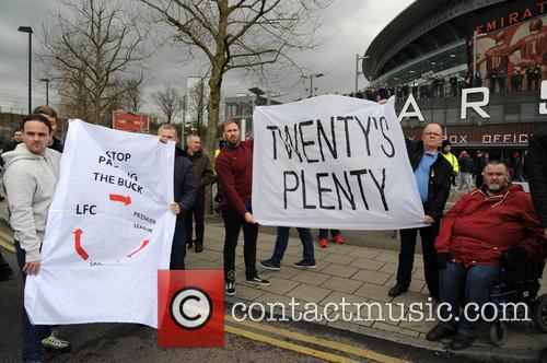 Arsenal Fans Protest 11
