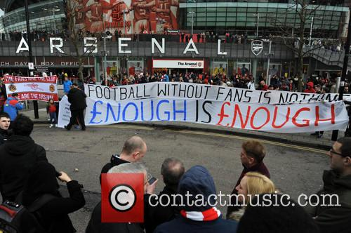 Arsenal Fans Protest 1