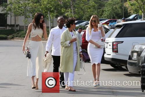 Corey Gamble, Kris Jenner, Khloe Kardashian and Kendall Jenner 9