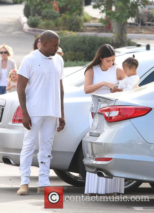 Kanye West, Kim Kardashian and North West 2