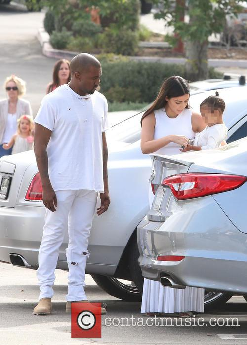 Kanye West, Kim Kardashian and North West 3