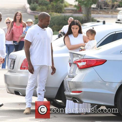 Kanye West, Kim Kardashian and North West 5