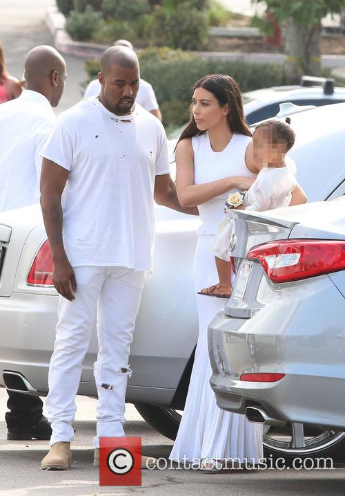 Kanye West, Kim Kardashian and North West 8